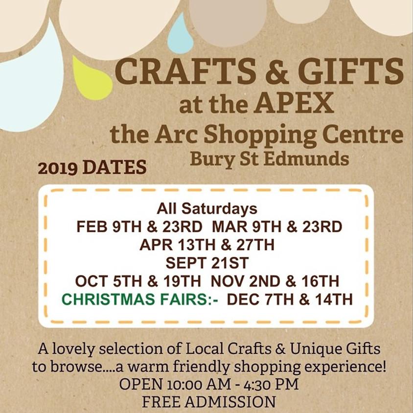 Sat 9th March - Bury St Edmunds Suffolk Craft & Gift Fair