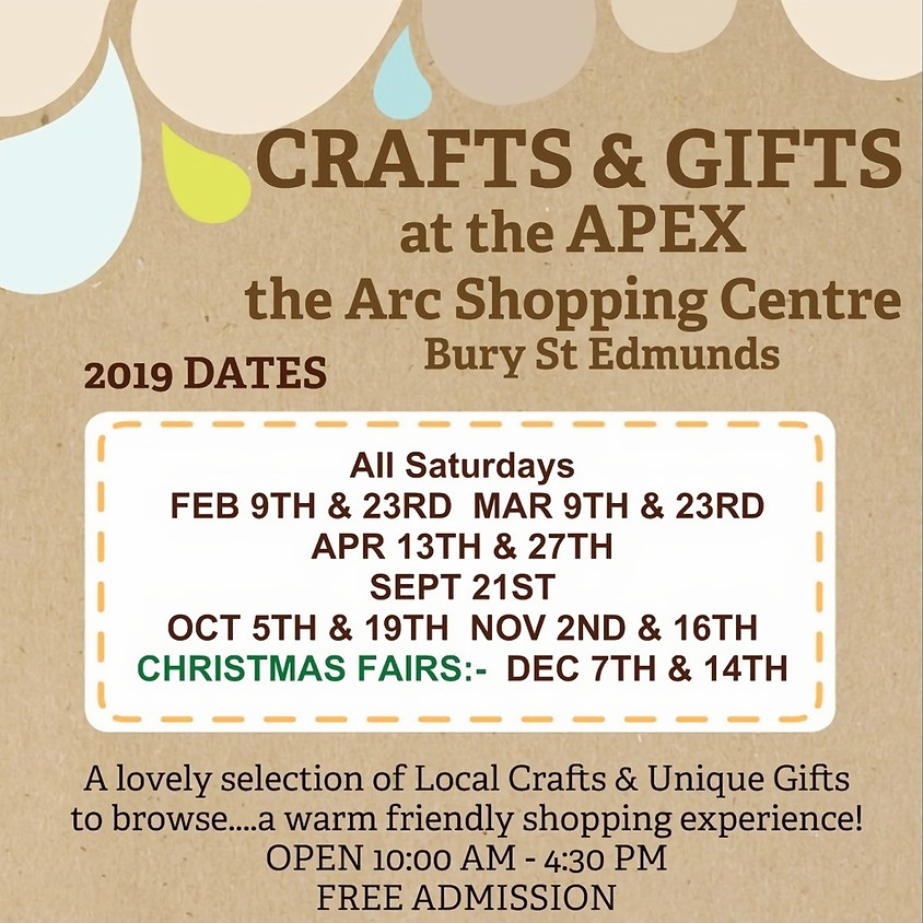Sat 2nd Nov - Bury St Edmunds Suffolk Craft & Gift Fair