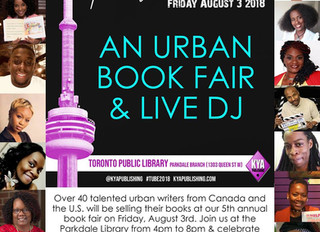 TORONTO URBAN BOOK EXPO // FRI AUG 3
