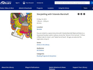 Artists in the Toronto Library - My May 2019 appearance!