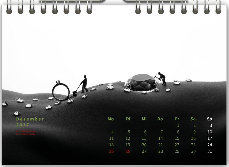 Tischkalender Minimalistisch 12