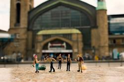 Punker am Bahnhof