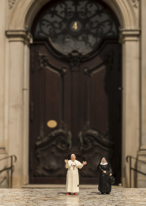 Papst in Hamburg-Michel unten