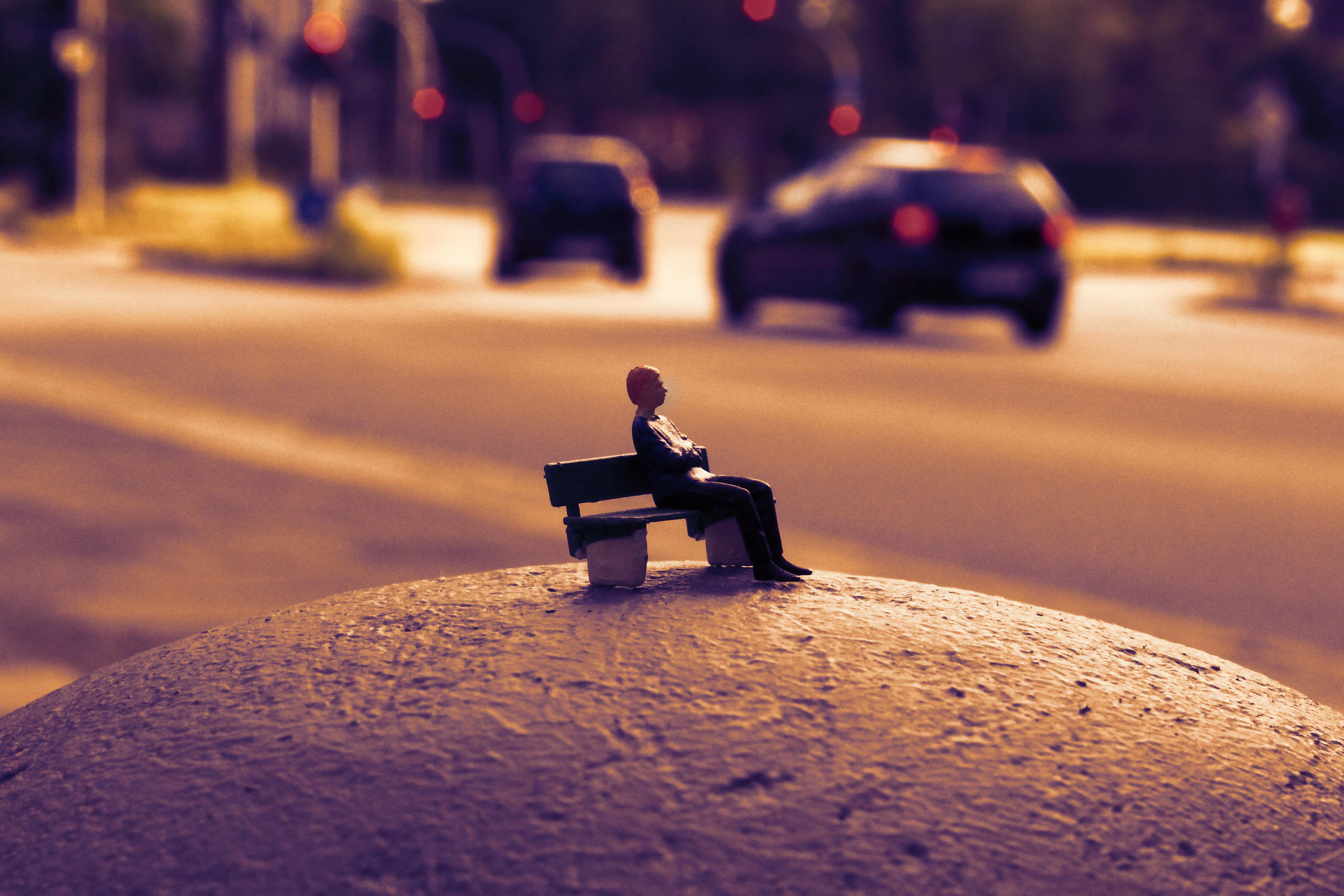 Warten auf den Bus