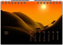 Tischkalender Minimalistisch 03