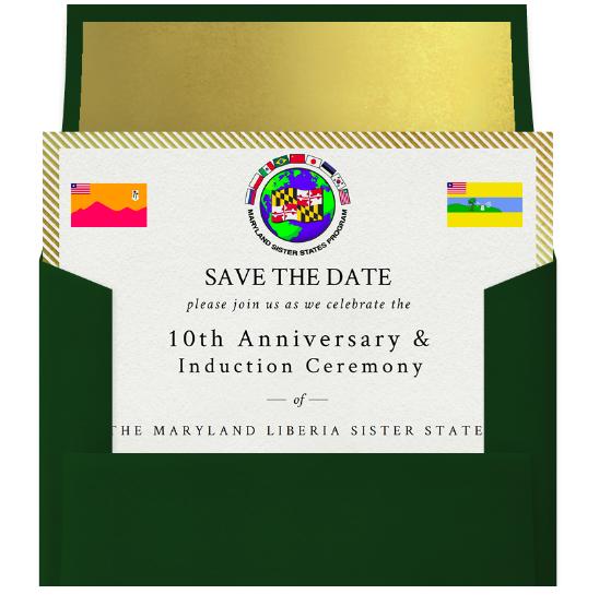 Save the Date Invitation & Envelope.