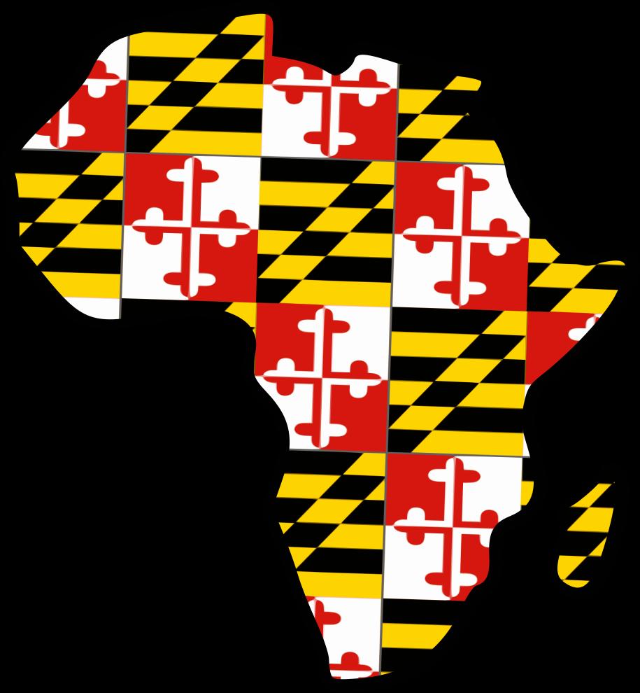 Africa-Maryland Map Flag