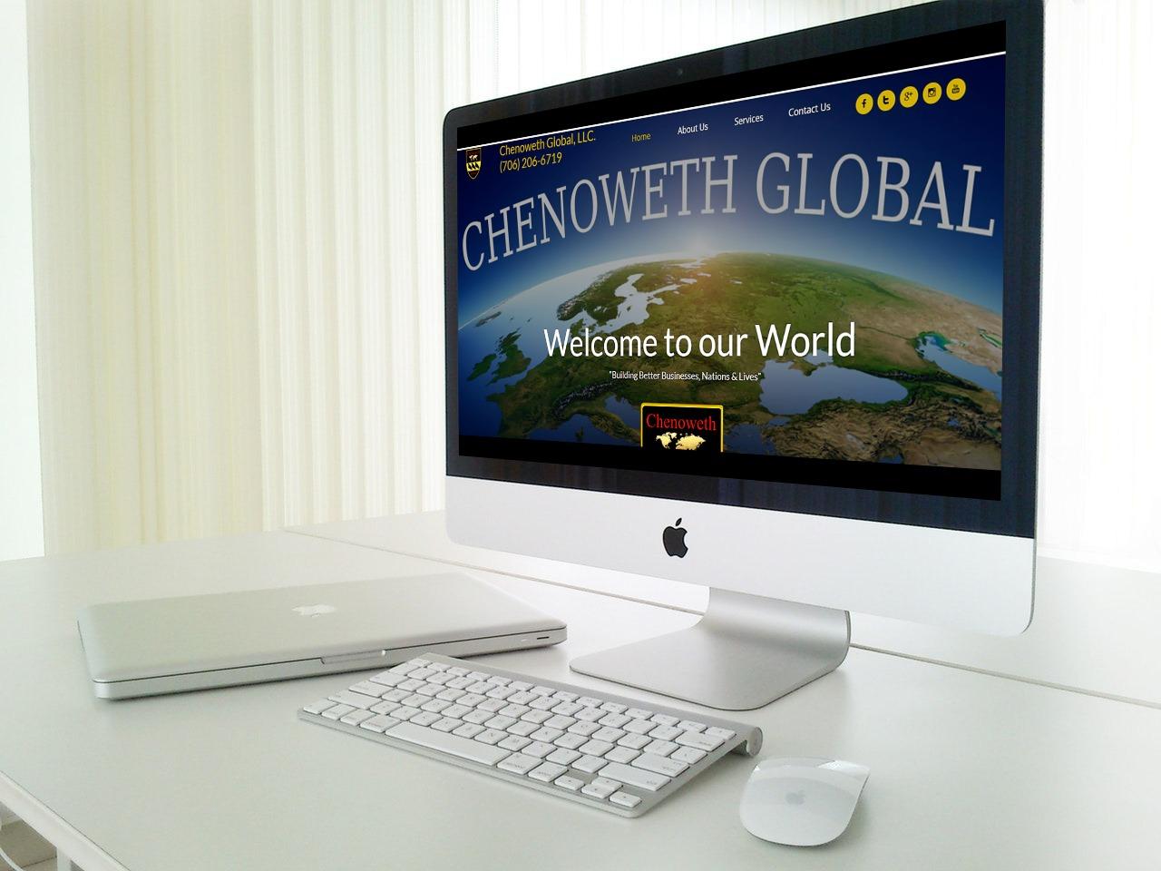 Chenoweth Global Website Mockup
