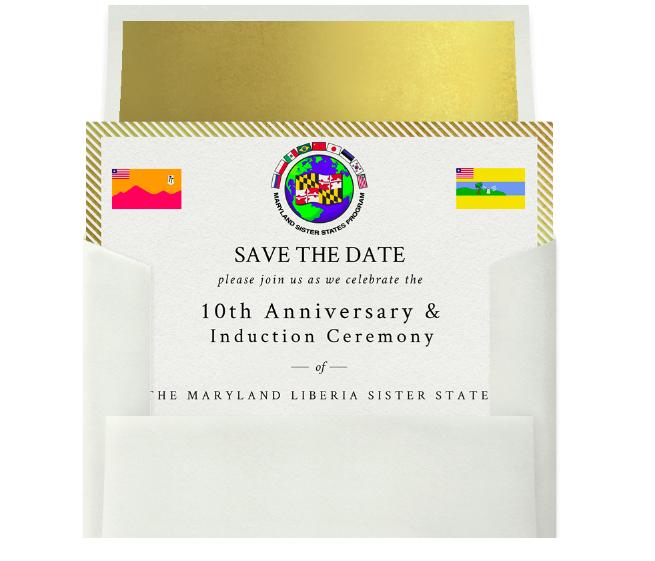 Save the Date Invitation & Envelope