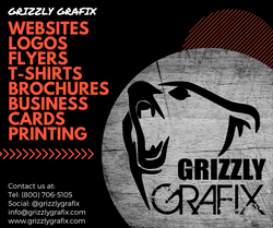 GRIZZLY Website, Logos, Flyers