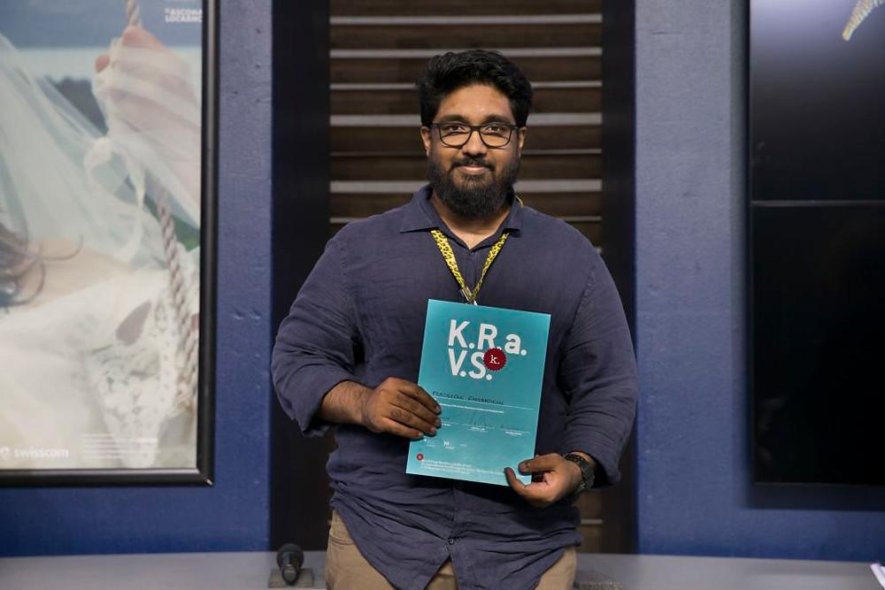 Pradeepan Raveendran received a residency award Internationale Kurzfilmtage Winterthur @ Villa Sträuli at Locarno Festival