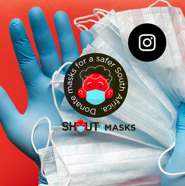 We have been working with the guys at @shoutsa to help set up and design the SHOUT4masks initiative.