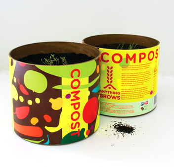 Anything Grows biodegradable compost packaging.  Pick n' Pay has been exploring fresh ways to grow the environment and the community. One of the problems we face is what to do with all our organic waste?   So, through the Pick n' Pay Foundation Small Business Incubator, we're turning our organic waste into useful and beautiful compost pots, from which, 'Anything Grows'. The organic waste is processed at the Epping Market, where it's naturally decomposed, before being packaged. The entire pot is made from recycled materials, natural food inks and eco glues, making it completely biodegradable and it's designed in such a way that holds water but also dissolves once planted. Sprinkle it over your garden, or just water and turn it into a pot plant. During the composting process, fruit and veg seeds are naturally left in the soil, so if left to its own devices, the pot could start sprouting tomatoes or even egg plants.    But we're not just about growing food, we're also into growing communities. These pots have helped grow small businesses, generating more work for locals, and uplift numerous communities.    Because from fresh thinking,  Anything Grows.