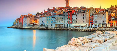 Beautiful Rovinj at sunset