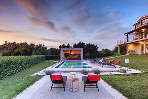 Luxury design villa2m Istria hang out by the pool and summer kitchen