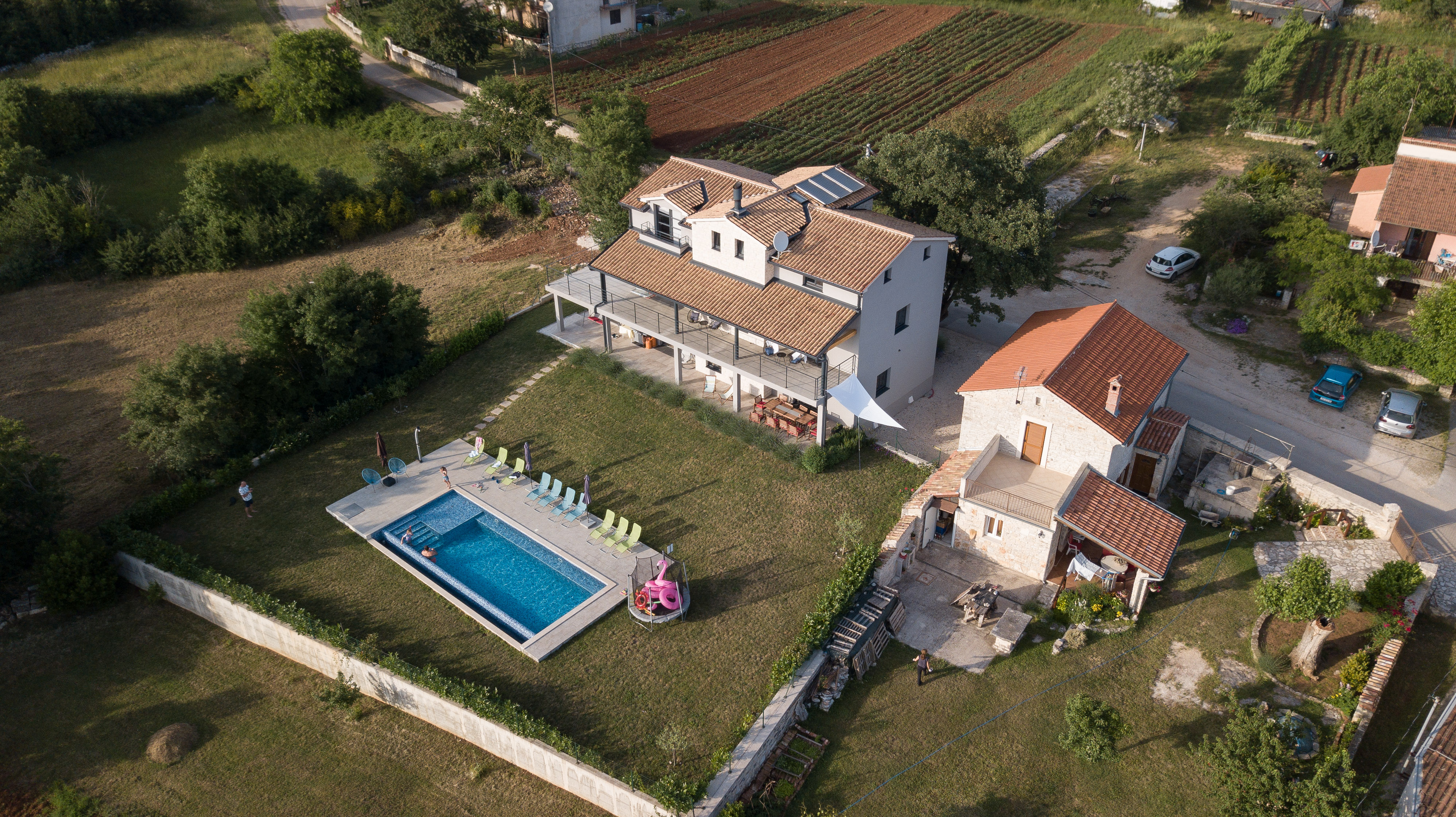 Bird view holiday villa2m