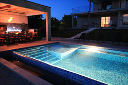 Night pool outdoor bbq vilal2m