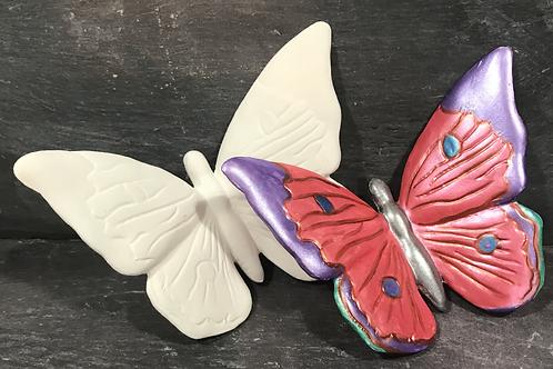 Slipcast butterfly wall plaque