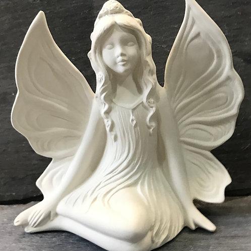 Side sitting fairy ornament