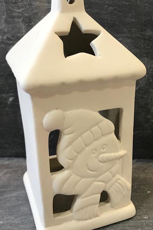 Snowman lantern