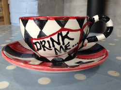 Alice inspired cup & saucer