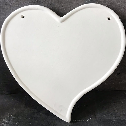 Heart shaped plaque