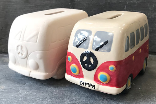 Camper van money bank