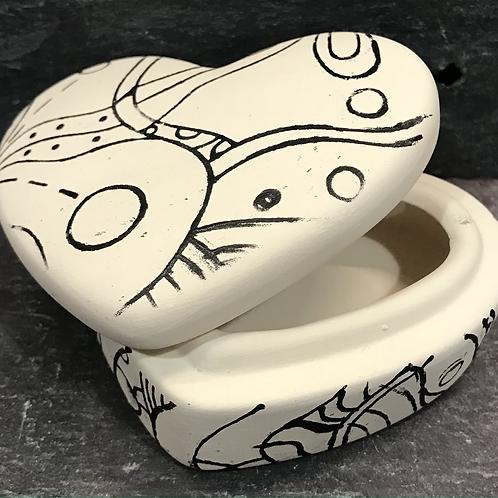 Mindfulness heart trinket box