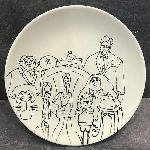 Paint your own Creepy family plate