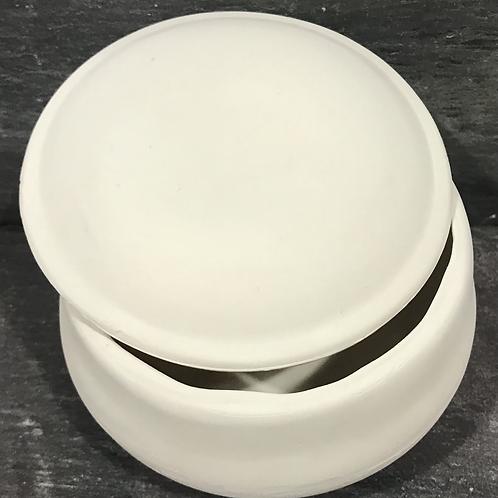 Slipcast plain round trinket box