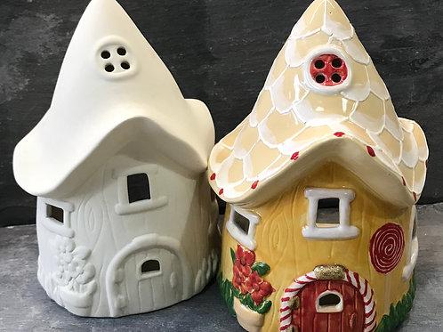 Fairy house tea light holder