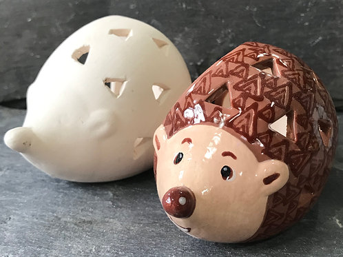 Hedgehog tea light holder
