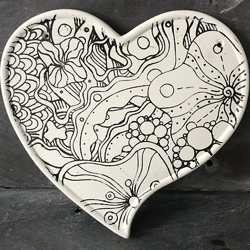Heart shaped mindfulness plaque
