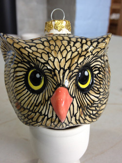 Owl head bauble
