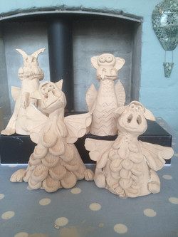 Clay Day St George's Day Dragons
