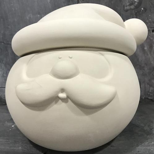 Santa head cookie jar