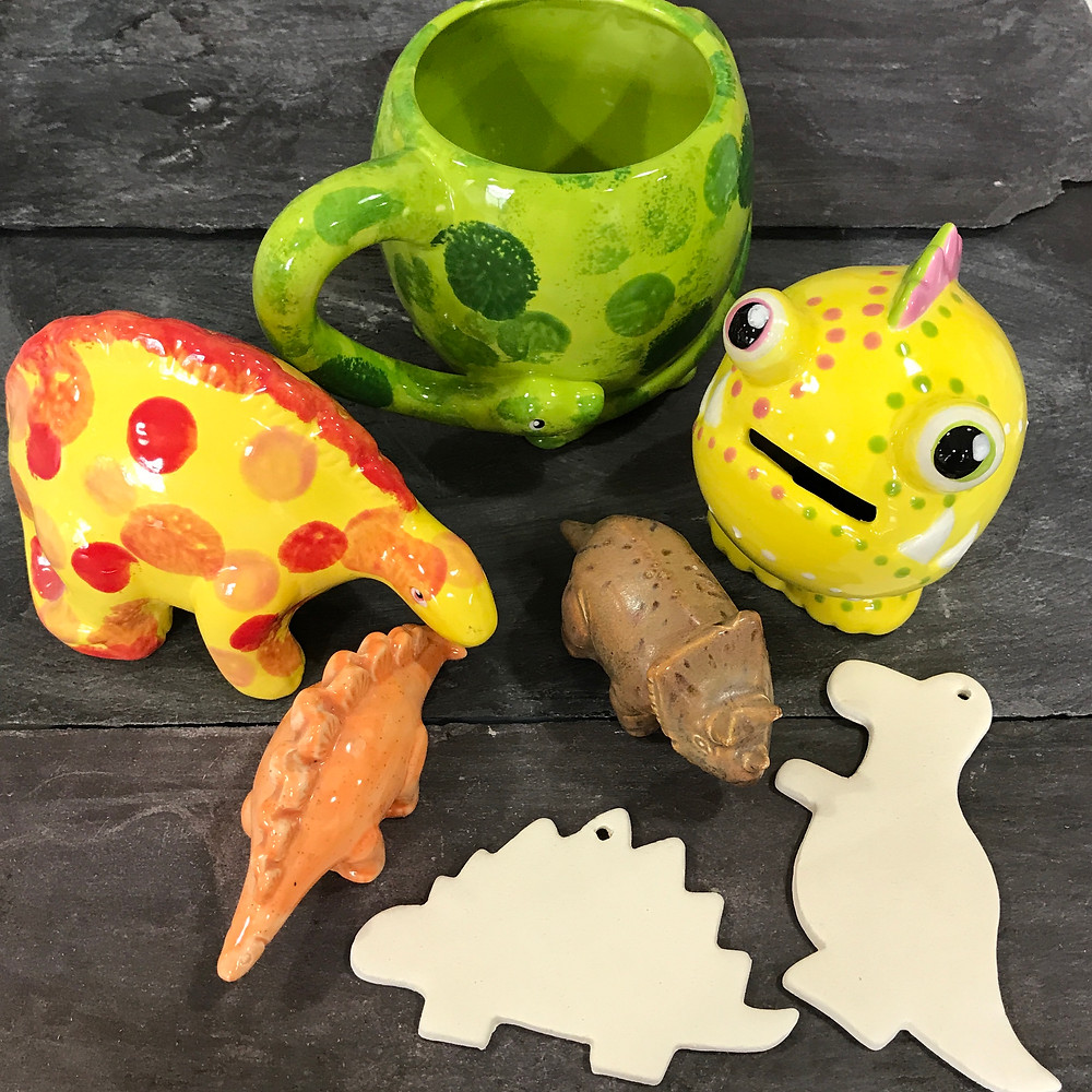 Pottery Dinosaurs & Monsters