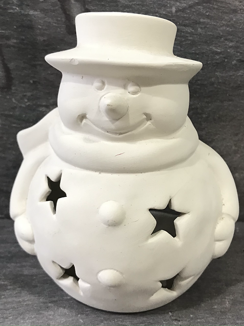 Snowman votive holder