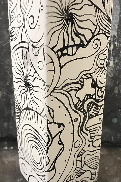 Mindfulness bud vase