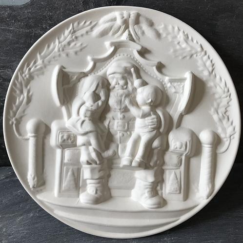 Embossed Santa plate