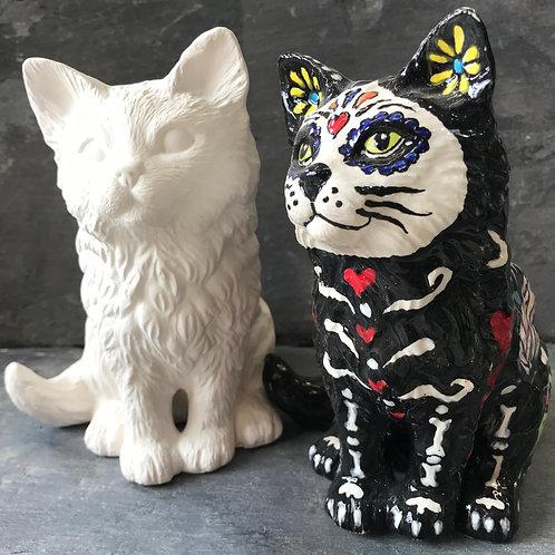 Sitting cat ornament
