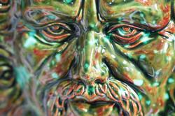 Slip cast Green Man