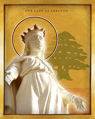 Our-Lady-Of-Lebanon-Icon-by-Chady-Elias-