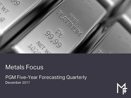 PGM Five-Year Forecasting Quarterly