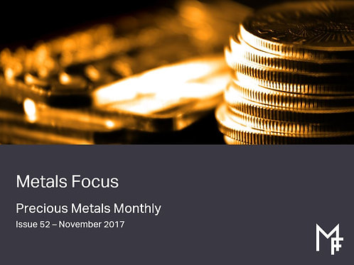 Precious Metals Monthly One Year Forecast