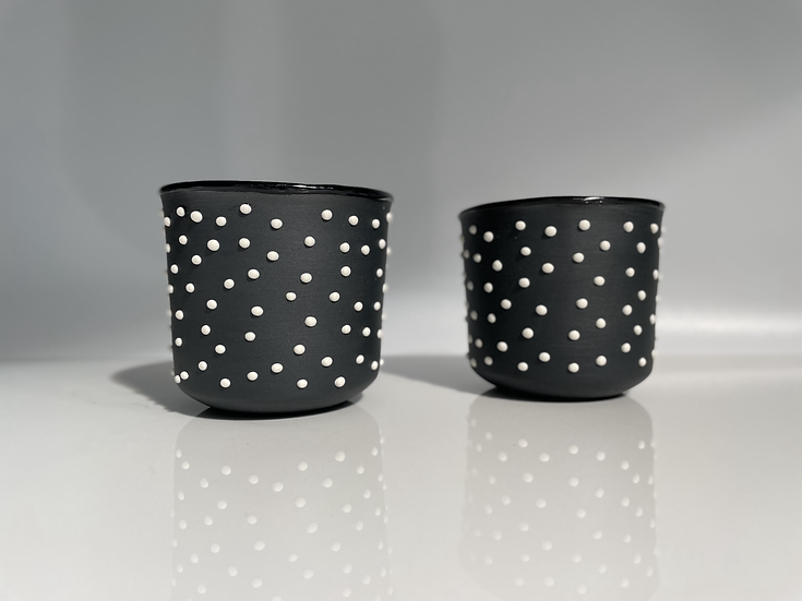 White studded cup