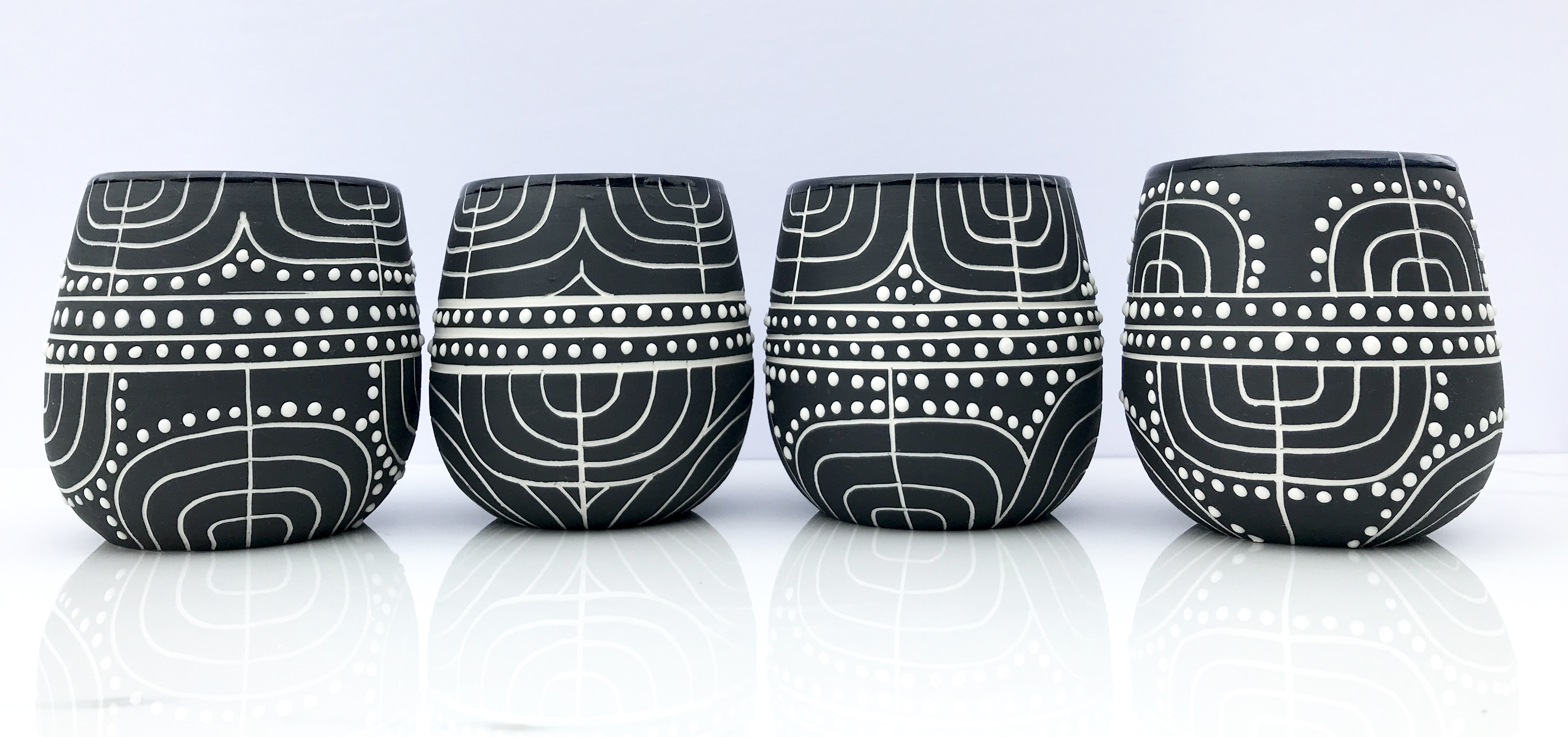 Modern deco cups