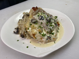 Chicken Scallopine With Speck and Fontin