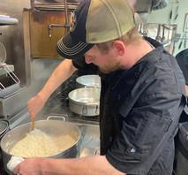 Our Chef de Cuisine Kenny Cooking Risott