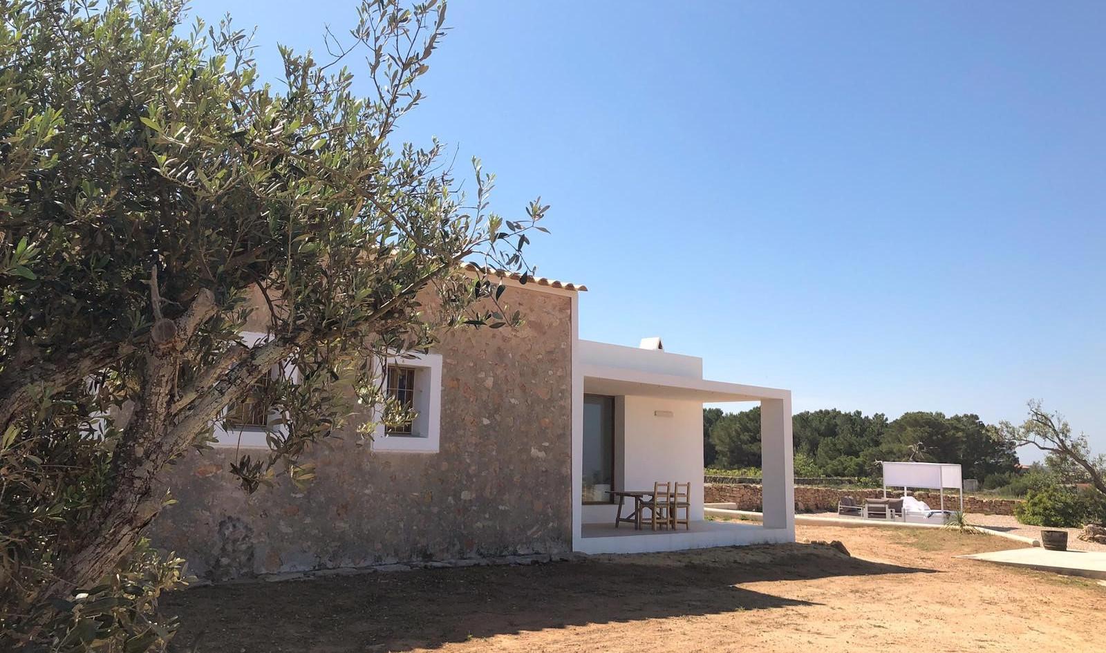 Terraza con vistas a Es Vedrá